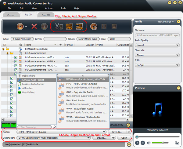 how to convert CD to audio files