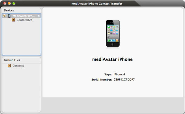 transfer iPhone contacts to Mac