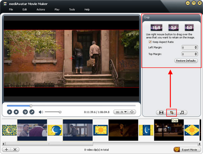 how to crop your movie size before making movie