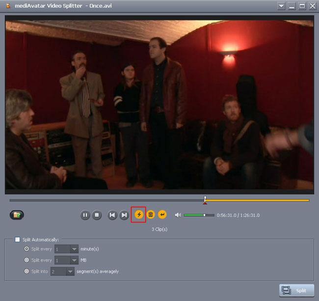 how to split avi video to mp4