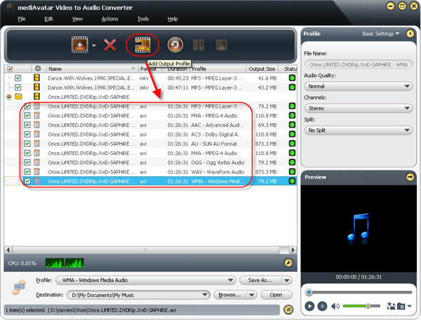 how to convert videos to mp3, wma