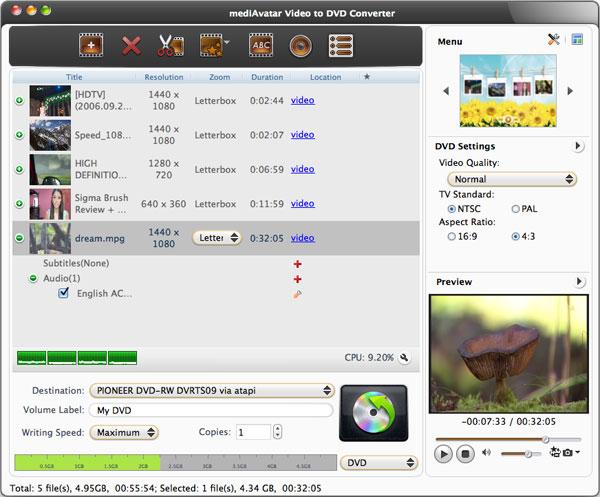 Video to DVD Converter Mac